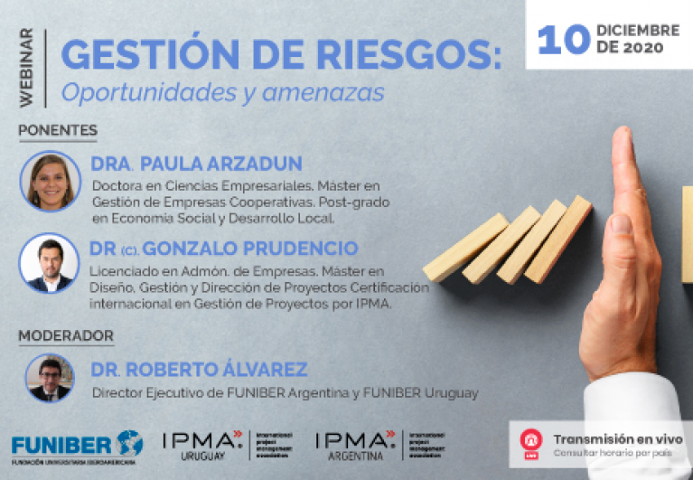 """UNINI México participa en el webinar """"Gestión de Riesgos: Oportunidades y Amenazas"""""""