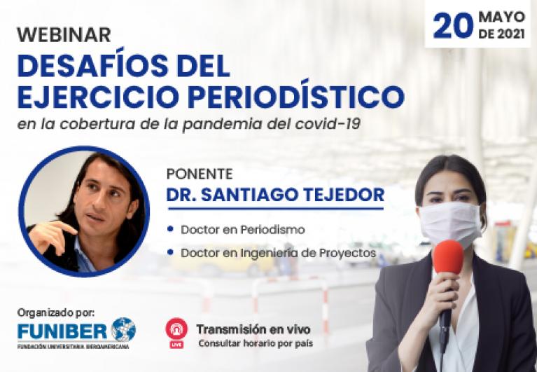 El periodismo en la pandemia, tema del próximo webinar en el que participa UNINI México