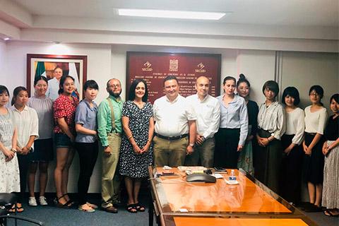 Encuentro con el Secretario de Educación del Estado de Campeche de representantes del capítulo Japón de la Red Global MX