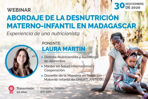 Próximo webinar sobre desnutrición materno-infantil en Madagascar organizado por UNINI México